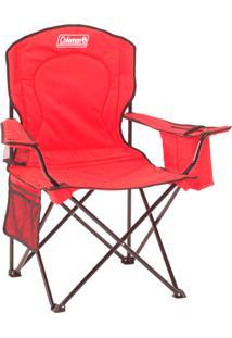 Cadeira Dobrável Com Cooler Térmico E Porta Copo - Coleman-Vermelho