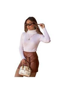 Blusa Tricot Mila Feminina Lã Shopping Do Tricô Inverno