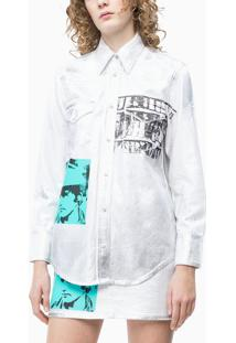 Top M/L Ckj Fem And Warhol Rodeo - Branco - 36