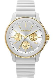 Relógio Mormaii Analógico Mo6P29Ae-8B Feminino - Feminino-Branco