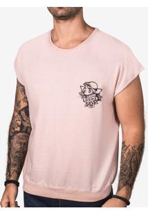 Camiseta Oversized Sleeveless Rosa 102252
