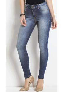 Calça Jeans Sawary Azul Modelo Cigarrete