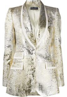 Dolce & Gabbana Blazer Metálico Texturizado - Dourado