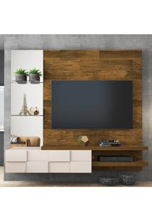 """Painel Para Tv Até 50"""" Turim 100% Mdf 12944 Demolição/Off White - Dj Móveis"""
