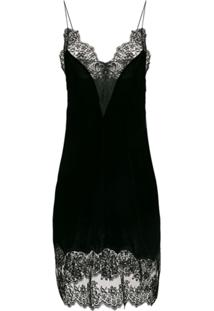 Stella Mccartney Slip Dress Com Renda - Preto