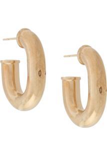 Paco Rabanne Interlocking Hoop Earrings - Dourado