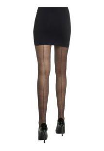 Meia-Calça Stripes Com Risca Atrás Fashion Loba Lupo (05862-001) Fio 20
