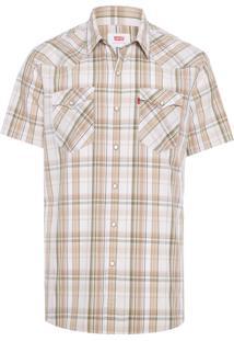 Camisa Masculina Classic Western - Bege