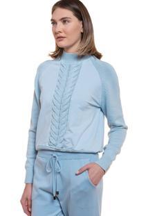 Blusa Feminina Biamar Trançada Azul Claro - U