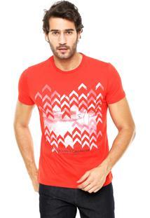Camiseta Enfim Estampada Vermelha