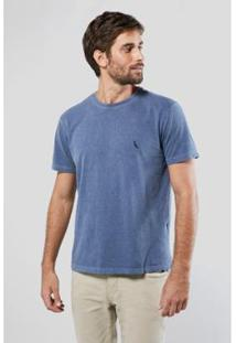 Camiseta Gota Pica-Pau Bordado Reserva Masculina - Masculino-Azul