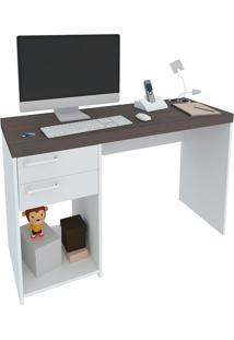 Escrivaninha Com 2 Gavetas Avila - Artany - Avela / Branco