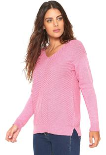 Suéter Fiveblu Tricot Básico Rosa
