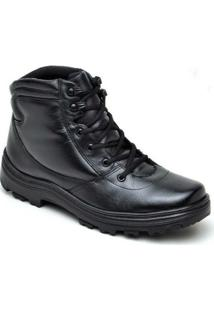Bota Atron Shoes Militar Couro - Masculino