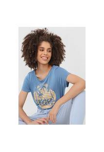 Camiseta Mob Tropical Desert Azul
