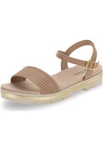 Sandália Feminina Flat Modare - 7132117 Bege 34