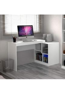 Escrivaninha Multifuncional 2 Em 1 Com 4 Nichos Ho-2904 Home Office Hecol Móveis Branco Tx/Branco Tx