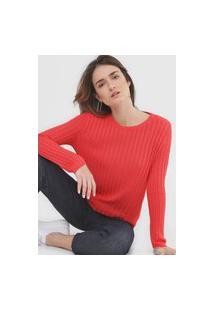 Blusa Tricot Bobstore Texturizada Vermelha