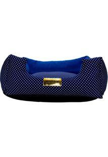 Cama Poã¡- Azul Escuro & Azul Marinho- 20X70X70Cm4 Patas