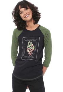 Camiseta Hurley Snakes Box Preta/Verde