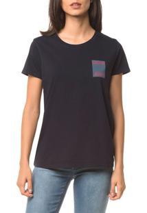 Blusa Ckj Fem Logo Calvin Jeans - Marinho - Pp