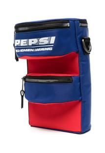 Feng Chen Wang Pepsi Logo Panelled Shoulder Bag - Azul
