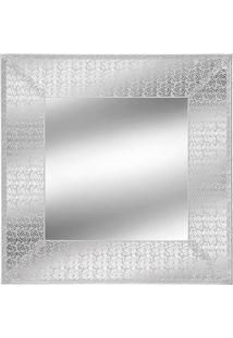 Espelho Emoldurado- Espelhado & Branco- 45X45X1Cm