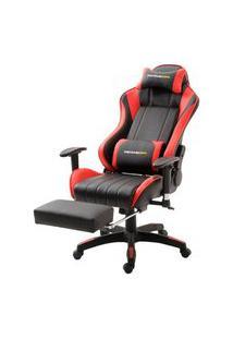 Cadeira Office Xsx Em Courino Preto E Vermelho - 38666 Preto E Vermelho