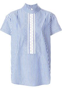 Ps Paul Smith Blusa Listrada - Azul