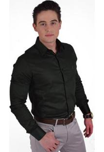 Camisa Horus Social Super Slim - Masculino-Verde