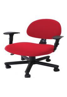 Capa De Cadeira Giratória De Escritório 1 Peça Vermelha