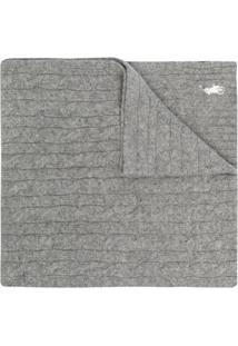 Polo Ralph Lauren Cachecol De Tricô Com Logo Bordado - Cinza
