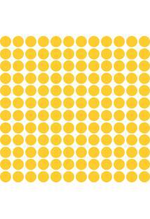 Adesivo De Parede Bolinhas Amarelas 144Un - Tricae
