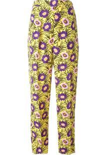 Marni Calça Pantalona Floral - Estampado