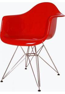 Cadeira Eames Dar - Fibra De Vidro Rosa