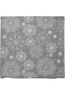 Capa Para Almofada Natal Flocos De Neve- Cinza Escuro & Mabruk