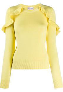 Redvalentino Frill Detail Jumper - Amarelo