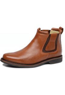 Botina Anatomica Top Franca Shoes Floter Conhaque
