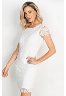 Vestido De Renda Off White