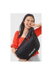 Pochete Transversal Belly Bag Desigual Preto