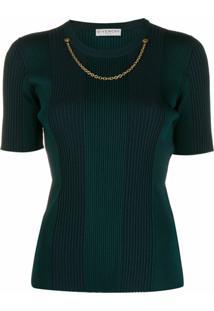 Givenchy Blusa De Tricô Com Detalhe De Corrente - Verde