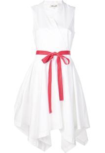 Diane Von Furstenberg Vestido Envelope Com Cinto - Branco