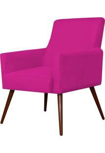Poltrona Decorativa Lymdecor Maria Suede Pink