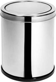 Lixeira De Aço Inox Com Tampa Basculante Maxroll 6,9L - 23042