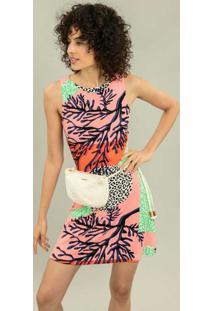 Vestido Recorte Costas Estampa Darling - Lez A Lez