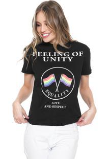 Camiseta Fiveblu Feeling Preta