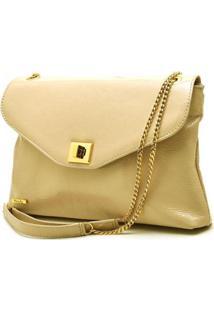 Bolsa Hendy Bag Couro Verniz Feminina - Feminino-Amarelo