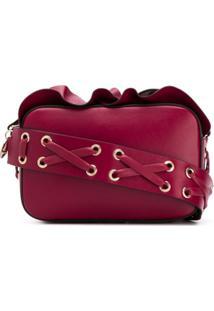 Red Valentino Bolsa Tiracolo Rock Com Babados - Vermelho