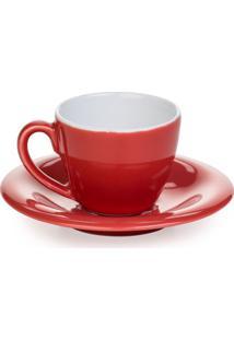 Xícara De Café De Porcelana Clear Kenya Vermelha 100Ml - 22927