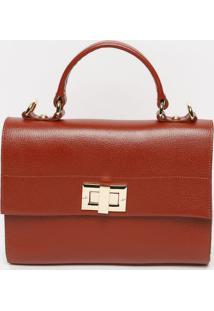 Bolsa Em Couro Com Pespontos - Vermelha - 26X27X6Cmjorge Bischoff